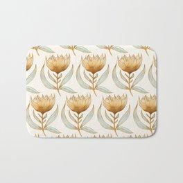 Bohemian Sunflower Pattern Bath Mat