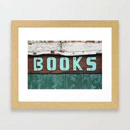 Rustic Aqua Birch Bark Book Art Framed Art Print