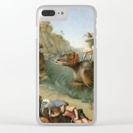 Piero Di Cosimo - Andromeda Freed By Perseus (With Perseus Slaying The Dragon) Clear iPhone Case