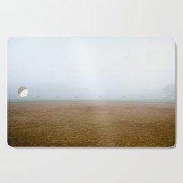 Baseball Field on a Foggy Morning Cutting Board