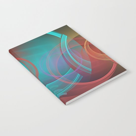 Abstract with translucent geometric shapes Notebook