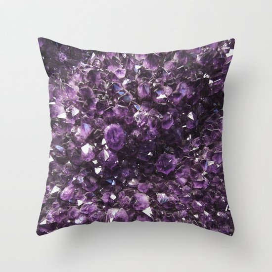 Amethyst crystal photography throw pillow by wildhood for Amethyst throw pillows