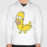 homer Hoodies featuring Homer Dickbutt by headsofbirds