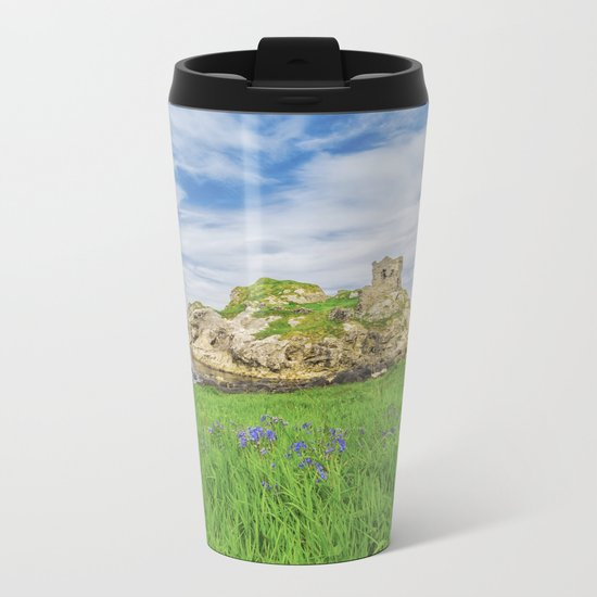 The old Castle of Kinbane Metal Travel Mug