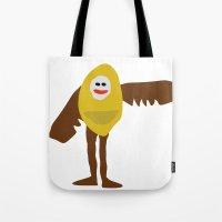 birdman Tote Bags featuring Surreal Birdman by SlugBoy