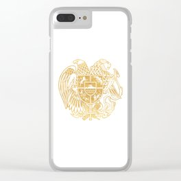 ARMENIAN COAT OF ARMS - Gold Clear iPhone Case