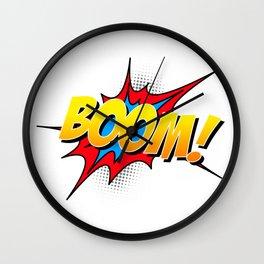 Boom!! Wall Clock