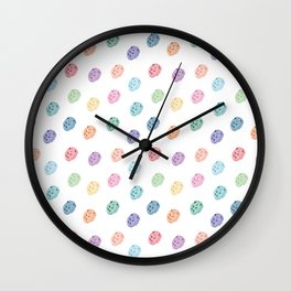 hedgehog pattern colourful Wall Clock