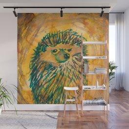 Angry Hedgehog Wall Mural