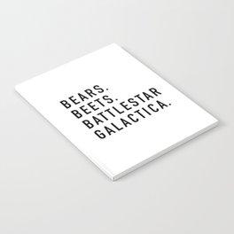 Bears Beets Battlestar Notebook
