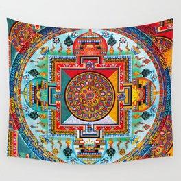 Buddhist Medicine Mandala 2 Wall Tapestry