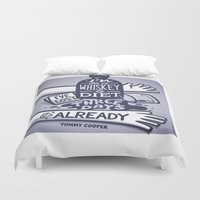 whiskey Duvet Covers featuring Whiskey by hugraphic