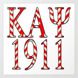 Kappa Alpha Psi 1911 Tribal Design Art Print