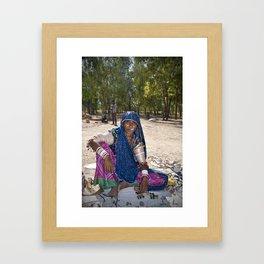 Mir Woman Framed Art Print