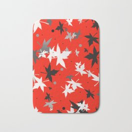 Forever Autumn Leaves red 5 Bath Mat