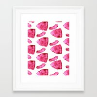 meat Framed Art Prints featuring Meat by XiaBoiii