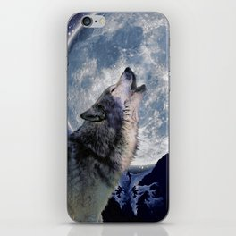 A One Wolf Moon iPhone Skin
