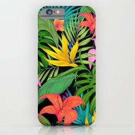 Jungle plants pattern iPhone Case
