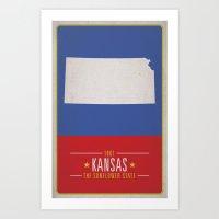 kansas Art Prints featuring KANSAS by Matthew Justin Rupp