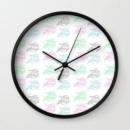 tea please pattern Wall Clock