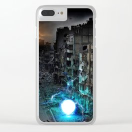 Dystopian Orbs Clear iPhone Case
