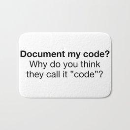 Document my code Bath Mat