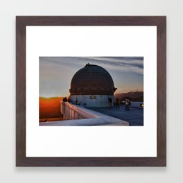Griffith Observatory, Hollywood Sign Framed Art Print