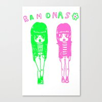 ramones Canvas Prints featuring Ramonas by IvyPowers