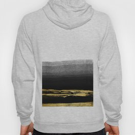 Black & Gold Stripes on White - Mix & Match with Simplicty of life Hoody