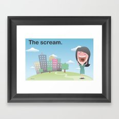 The scream. Framed Art Print