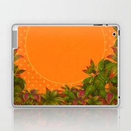 """Plants & Orange Polka Dots"" Laptop & iPad Skin"