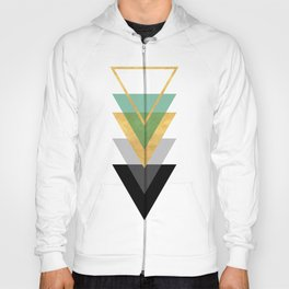 FIVE GEOMETRIC ABSTRACT HOLLOW PYRAMIDS TRIANGLE Hoody