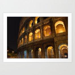 Colosseum - Rome, Italy Art Print