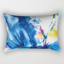 Abstract Blooms 1a by Kathy Morton Stanion Rectangular Pillow