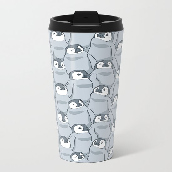Baby Penguins Metal Travel Mug