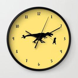 Walking my beast Wall Clock