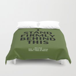 Howlin' Mad Murdock's 'I Stand Firmly...' shirt Duvet Cover
