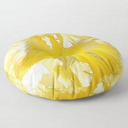 Golden Feathers Floor Pillow