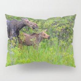 Moose and calf by Teresa Thompson Pillow Sham