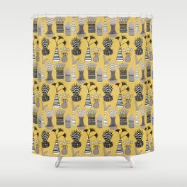 Vases and Stripes Shower Curtain
