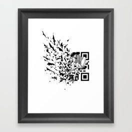 Break a (QR) Code Framed Art Print