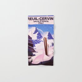 Breuil-Cervinia Valle d'Aosta Italy Ski poster. Hand & Bath Towel