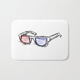 Sketch Glasses 3D Bath Mat