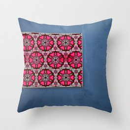 Romany Love 510 on blue wall Throw Pillow