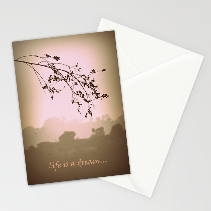life is a dream Stationery Cards