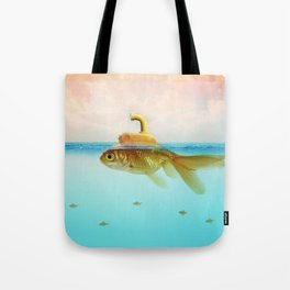 Submarine Goldfish Tote Bag