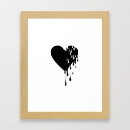 Bleeding Black Heart Framed Art Print