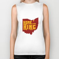 lebron Biker Tanks featuring Home of the King (Yellow) by Denise Zavagno