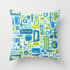 Sights of Seattle Throw Pillow