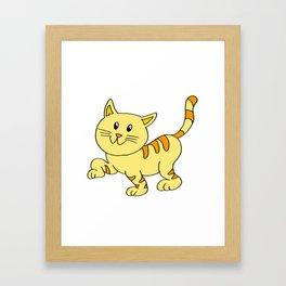 cat yellow Framed Art Print